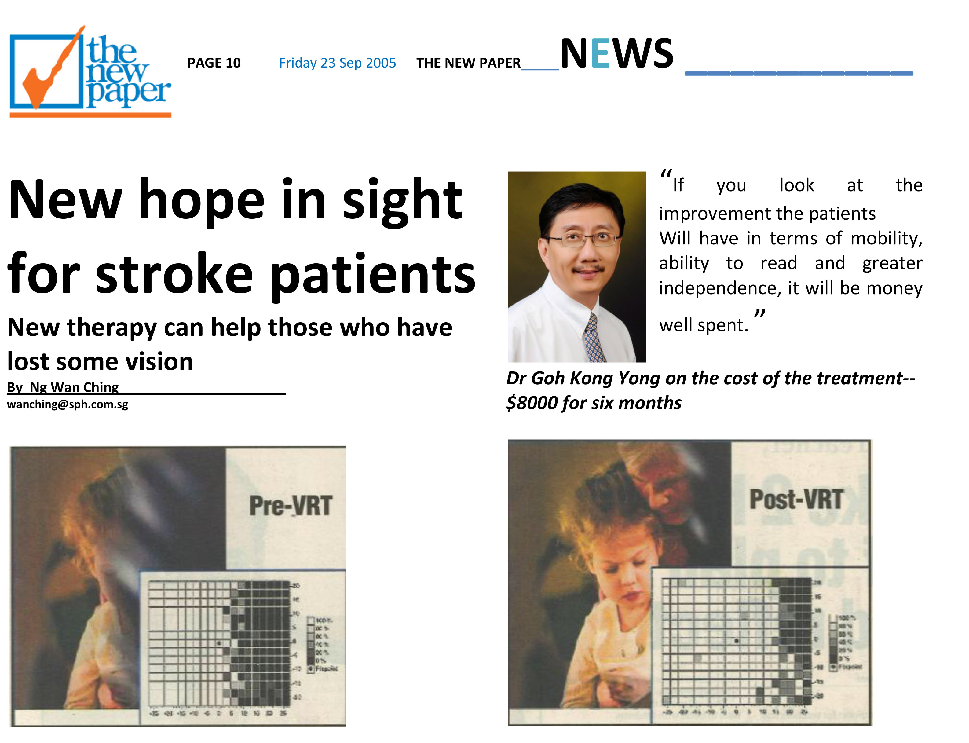 Media THE NEW PAPER New hope in sight for stroke patients Article