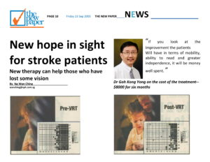 Media THE NEW PAPER New hope in sight for stroke patients Article 6-1